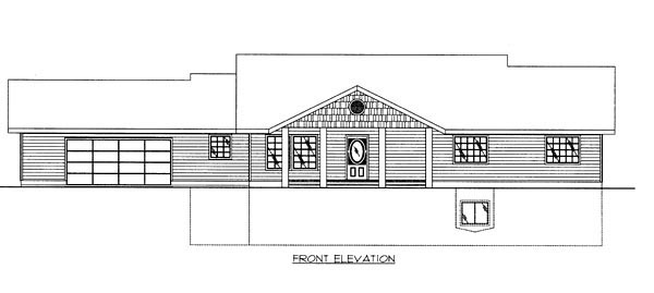 Contemporary House Plan 87248 Rear Elevation