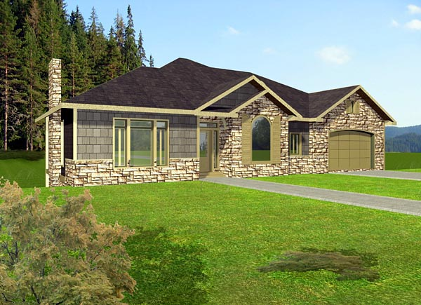 Craftsman House Plan 87249 Elevation