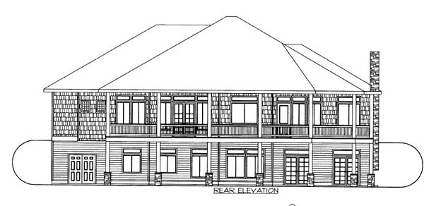 Craftsman House Plan 87249 Rear Elevation