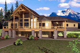 House Plan 87250   Contemporary Style Plan with 3994 Sq Ft, 3 Bedrooms, 4 Bathrooms, 3 Car Garage Elevation