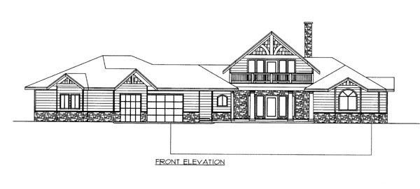Contemporary House Plan 87250 Rear Elevation