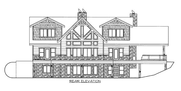 Traditional House Plan 87251 Rear Elevation