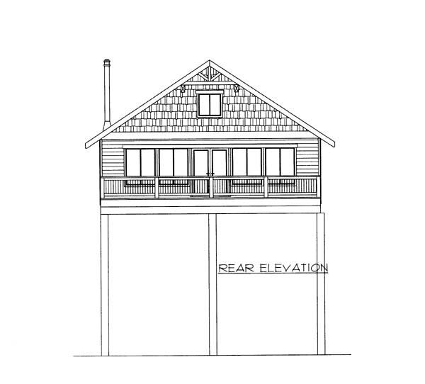 Cabin House Plan 87252 Rear Elevation