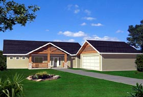 Ranch House Plan 87253 Elevation