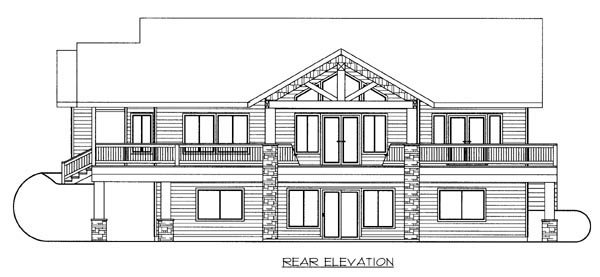 Ranch House Plan 87253 Rear Elevation