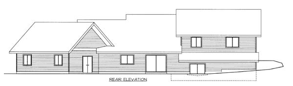 Ranch House Plan 87254 Rear Elevation