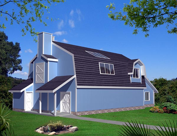 Country House Plan 87255 with 3 Beds, 2 Baths Elevation