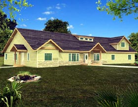 Ranch House Plan 87256 Elevation