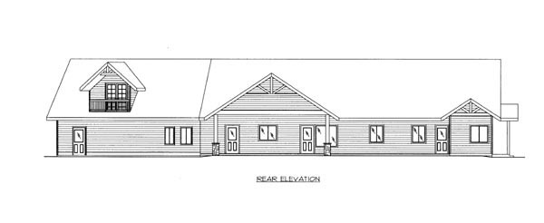 Ranch House Plan 87256 Rear Elevation