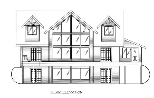 Contemporary House Plan 87257 Rear Elevation