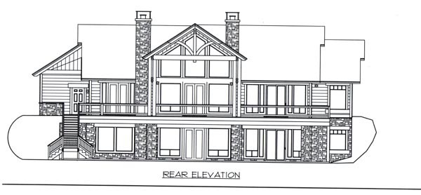 Ranch House Plan 87258 Rear Elevation