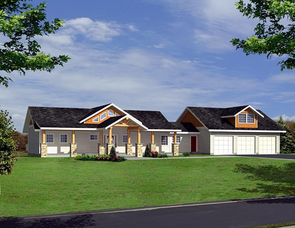 Ranch House Plan 87260 Elevation
