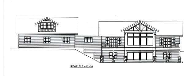 Ranch House Plan 87260 Rear Elevation