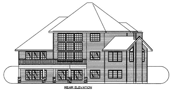 Traditional House Plan 87261 Rear Elevation