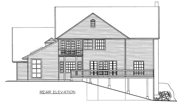 House Plan 87262 | Ranch Style Plan with 3928 Sq Ft, 3 Bedrooms, 4 Bathrooms, 2 Car Garage Rear Elevation