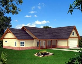 Ranch House Plan 87263 Elevation