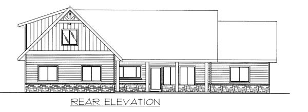 Ranch House Plan 87263 Rear Elevation