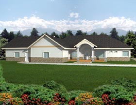 House Plan 87264 | Ranch Style Plan with 3124 Sq Ft, 2 Bedrooms, 2 Bathrooms, 2 Car Garage Elevation