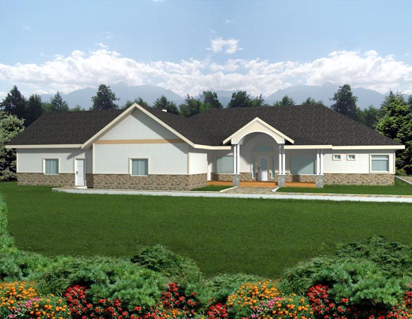 Ranch House Plan 87264 Elevation