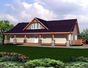 Contemporary Ranch House Plan 87265 Elevation