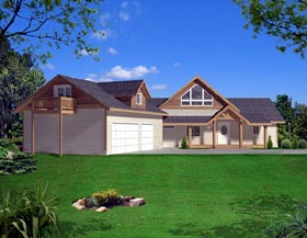 Contemporary House Plan 87268 Elevation
