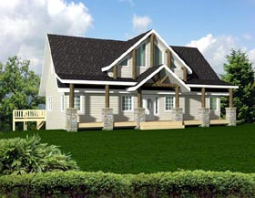Contemporary House Plan 87269 Elevation