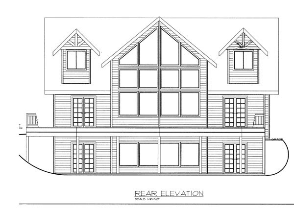Contemporary House Plan 87270 Rear Elevation