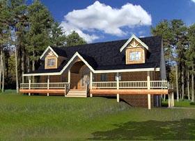Cabin House Plan 87271 Elevation