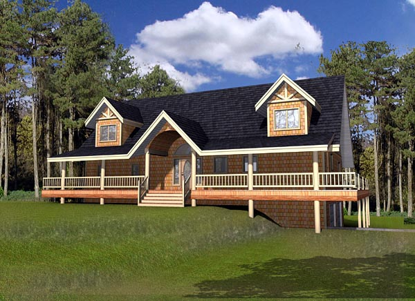 Cabin House Plan 87271 Elevation