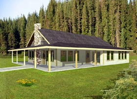 Ranch House Plan 87272 Elevation