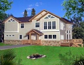 Contemporary Traditional House Plan 87273 Elevation
