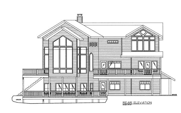 Contemporary Traditional House Plan 87273 Rear Elevation