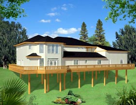 House Plan 87274 | Traditional Style Plan with 3566 Sq Ft, 2 Bedrooms, 2 Bathrooms, 2 Car Garage Elevation