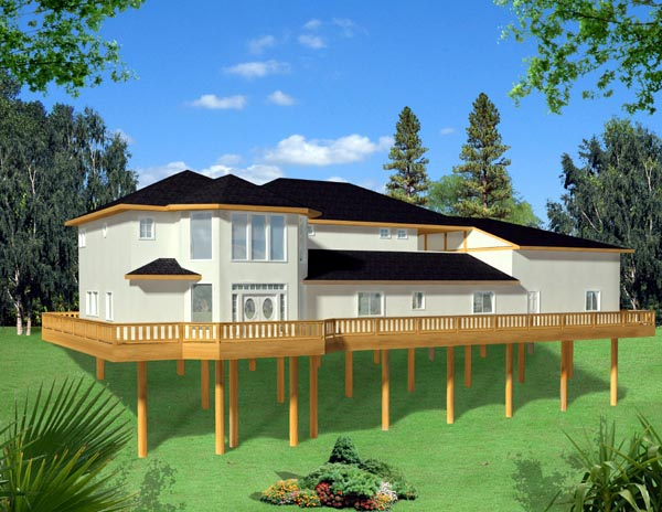 Traditional House Plan 87274 with 2 Beds, 2 Baths, 2 Car Garage Elevation