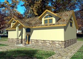 House Plan 87283 Elevation