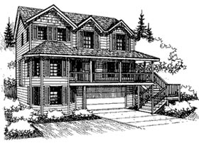 House Plan 87284 | Traditional Style Plan with 2925 Sq Ft, 4 Bedrooms, 4 Bathrooms, 2 Car Garage Elevation
