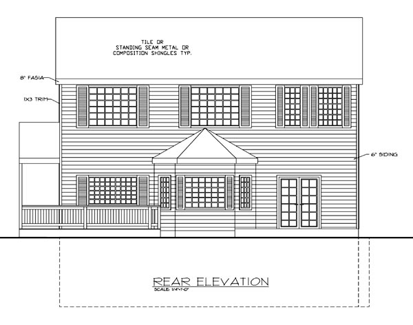 Traditional House Plan 87284 Rear Elevation