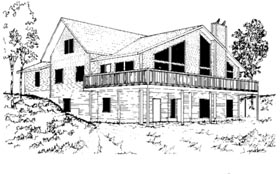 Contemporary House Plan 87285 Elevation