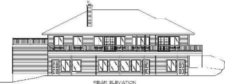 Traditional House Plan 87286 Rear Elevation