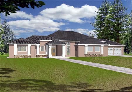 House Plan 87290 | Traditional Style Plan with 2778 Sq Ft, 3 Bedrooms, 3 Bathrooms, 2 Car Garage Elevation