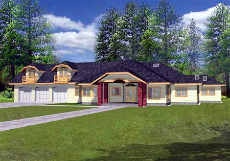 Traditional House Plan 87294 Elevation