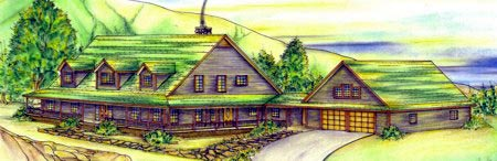 Country House Plan 87298 with 3 Beds, 5 Baths, 2 Car Garage Elevation