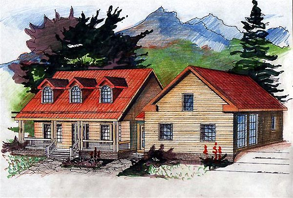 Country House Plan 87299 Elevation