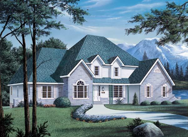 European House Plan 87302 Elevation