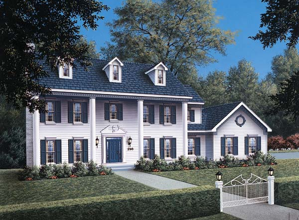 Colonial House Plan 87304 Elevation