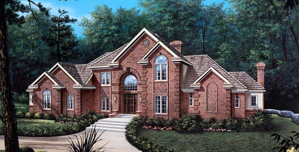 European Tudor House Plan 87307 Elevation