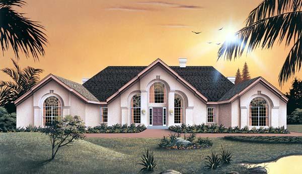 Mediterranean House Plan 87308 Elevation