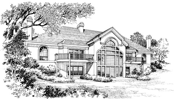 Mediterranean House Plan 87308 Rear Elevation