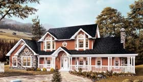 Farmhouse House Plan 87309 Elevation
