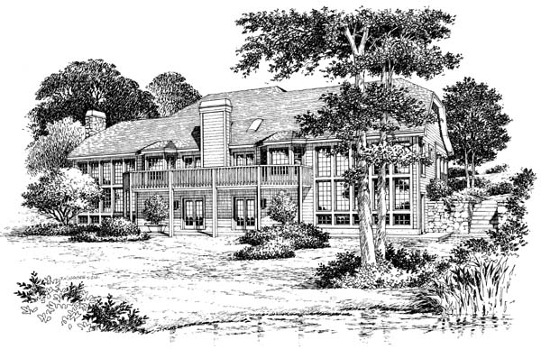 Traditional House Plan 87310 Rear Elevation